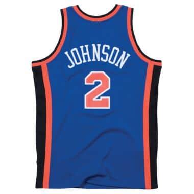 fa2c1f3f934 Larry Johnson 1998-99 Road New York Knicks Swingman Jersey Mitchell ...