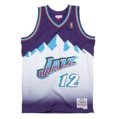 John Stockton 1996-97 Utah Jazz Road Swingman Jersey ca727076a