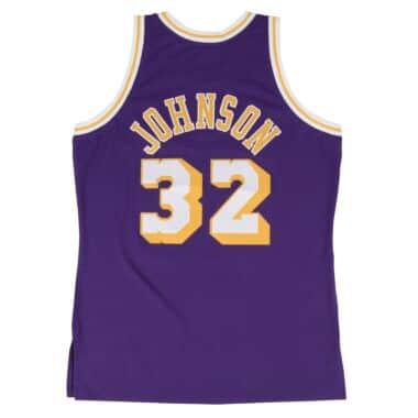 Magic Johnson Swingman Jersey Los Angeles Lakers Mitchell   Ness ... 77590d2e84