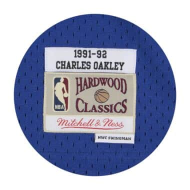56d535e04d4 Charles Oakley Swingman Jersey 1991-92 New York Knicks Mitchell ...