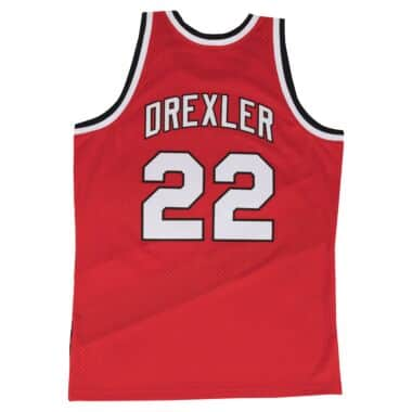 5819e753893 Clyde Drexler Swingman Jersey Portland Trail Blazers Mitchell   Ness ...