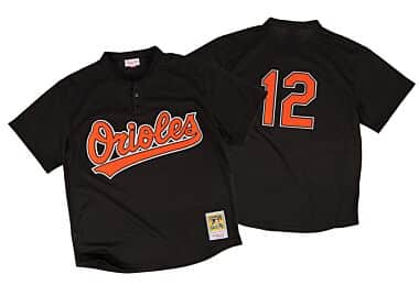 aa5dfe1b6 Roberto Alomar 1997 Authentic Mesh BP Jersey Baltimore Orioles