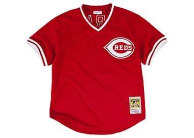 4764699fb Barry Larkin 1990 Authentic Mesh BP Jersey Cincinnati Reds Mitchell ...