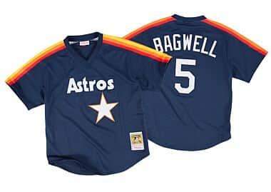 b6971a2ae5a Jeff Bagwell 1991 Authentic Mesh BP Jersey Houston Astros