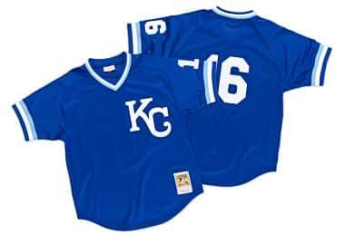 3b5093659b9 Bo Jackson 1989 Authentic Mesh BP Jersey Kansas City Royals