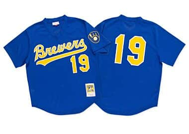 871bc799466 Robin Yount 1991 Authentic Mesh BP Jersey Milwaukee Brewers