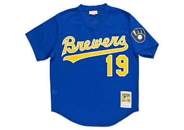 683fef6f2 Robin Yount 1991 Authentic Mesh BP Jersey Milwaukee Brewers