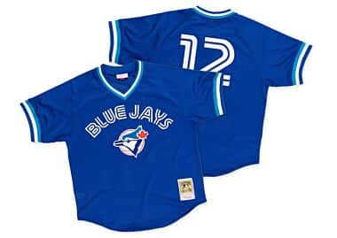 af75cc773 Roberto Alomar 1993 Authentic Mesh BP Jersey Toronto Blue Jays