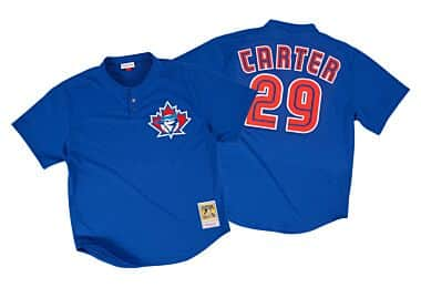 cb5d525ad Joe Carter 1997 Authentic Mesh BP Jersey Toronto Blue Jays
