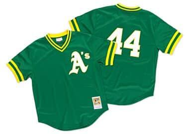 71e61b88120 Reggie Jackson 1987 Authentic Mesh BP Jersey Oakland Athletics