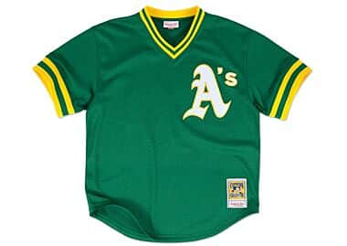 Rickey Henderson 1991 Authentic Mesh BP Jersey Oakland Athletics 3aa0d6988