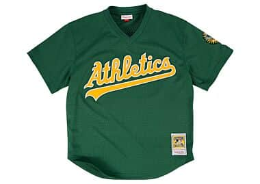 a0af60c06 Rickey Henderson 1998 Authentic Mesh BP Jersey Oakland Athletics