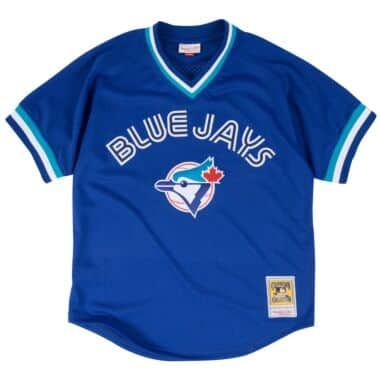 c03d0ad6e Joe Carter 1993 Authentic Mesh BP Jersey Toronto Blue Jays