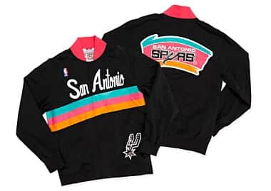 48defa6bf72 1994-95 Authentic Warm Up Jacket San Antonio Spurs Mitchell   Ness ...
