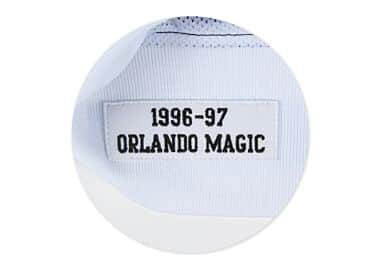56cb149bc02 1996-97 Authentic Warm Up Jacket Orlando Magic Mitchell   Ness ...