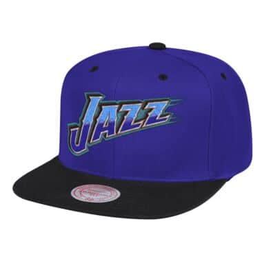 newest caeed 8d4c0 Wordmark 1 Snapback Utah Jazz