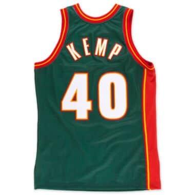 bb2e64a7002 Shawn Kemp 1995-96 Authentic Jersey Seattle SuperSonics Mitchell ...
