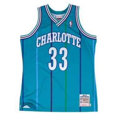 073f237c5f0 Alonzo Mourning 1992-93 Authentic Jersey Charlotte Hornets