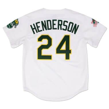 mens oakland athletics 24 rickey henderson white pullover mitchell ... 66ff2dc4f