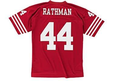 Tom Rathman 1990 Legacy Jersey San Francisco 49ers Mitchell   Ness ... 597029d27