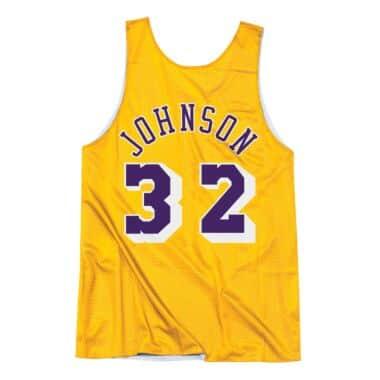 4f5a9e5b9a26e Magic Johnson All-Star Reversible Tank Los Angeles Lakers Mitchell ...