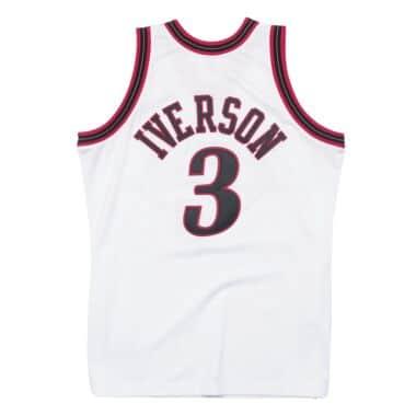 965da446383 Allen Iverson 1997-98 Philadelphia 76ers Home Authentic Jersey