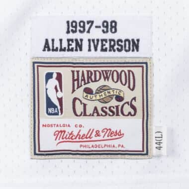 45902cfba Allen Iverson 1997-98 Philadelphia 76ers Home Authentic Jersey ...