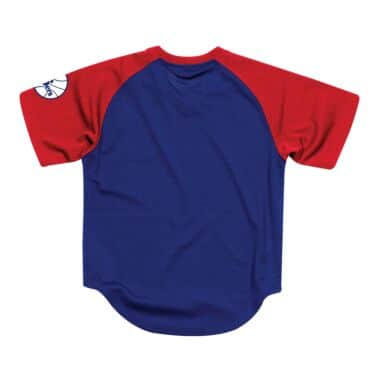 edcb9c3db Final Seconds Mesh V-Neck Philadelphia 76ers Mitchell   Ness ...