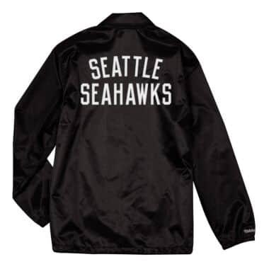 177f73063c841 Satin Coaches Jacket Seattle Seahawks Mitchell   Ness Nostalgia Co.