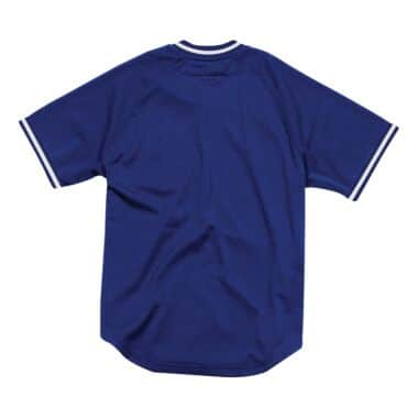 Seasoned Pro Mesh Button Front Los Angeles Dodgers Mitchell   Ness ... e6aef738a
