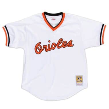 90585e0b132 Authentic Mesh BP Jersey Baltimore Orioles 1985 Cal Ripken