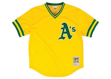 c3b8ed00a Authentic Mesh BP Jersey Oakland Athletics 1984 Rickey Henderson