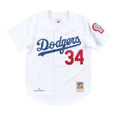 Authentic Jersey Los Angeles Dodgers Home 1981 Fernando Valenzuela 3538eb70a8f