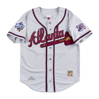 b7adc1a64e7 Hank Aaron 1963 Authentic Jersey Milwaukee Braves Mitchell   Ness ...