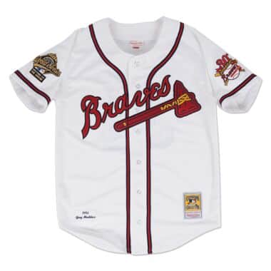 0f44b6622d3 Authentic Jersey Atlanta Braves Home 1995 Greg Maddux