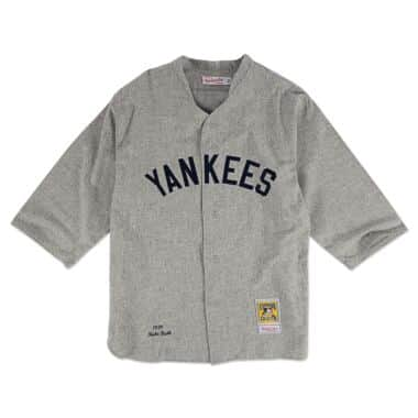 58e081216f8 Authentic Jersey New York Yankees Road 1929 Babe Ruth