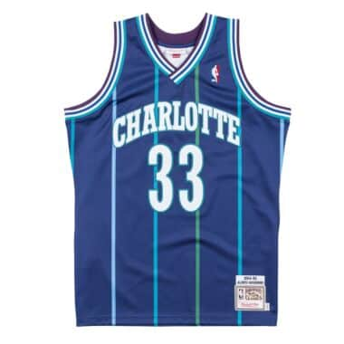 2eac066f5 Authentic Jersey Charlotte Hornets Alternate 1994-95 Alonzo Mourning
