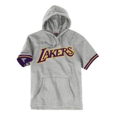 9ec1086daca27 French Terry Short Sleeve Hoody Los Angeles Lakers