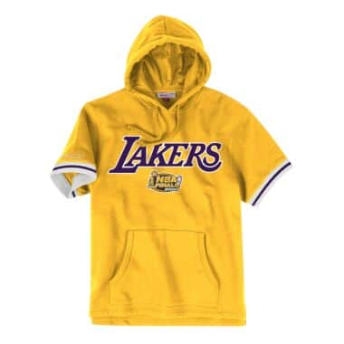 French Terry Short Sleeve Hoody Los Angeles Lakers 35f80cbec