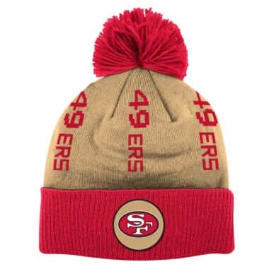 Vertical Wordmark Cuff Pom Knit San Francisco 49ers 1964 090ca7593