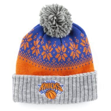 Artic Snowflake Cuffed Pom New York Knicks fcfb30e2da46