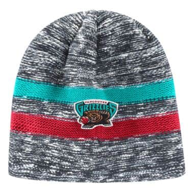 premium selection 7fa01 5cfb9 Static Team Stripe Beanie Vancouver Grizzlies