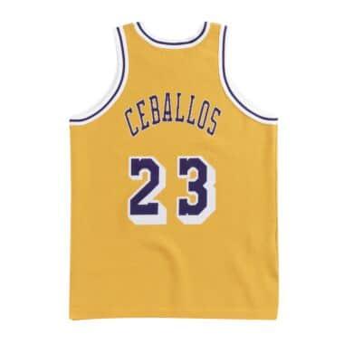 CLOT x M N Knit Jersey Los Angeles Lakers 1996-97 Cedric Ceballos ... 85f8f4114