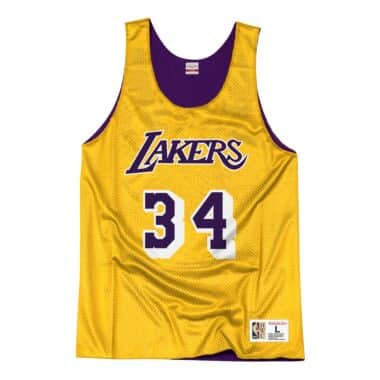 57d65ddc3a7 Reversible Mesh Tank Los Angeles Lakers Shaquille O Neal