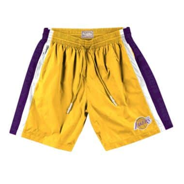detailed look f2371 4a01a Packable Nylon Shorts Los Angeles Lakers