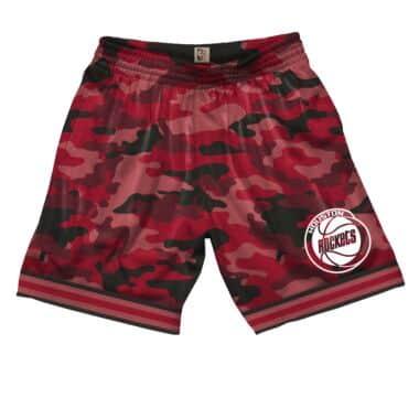 size 40 5fd6c 9e48d Camo Mesh Shorts Houston Rockets