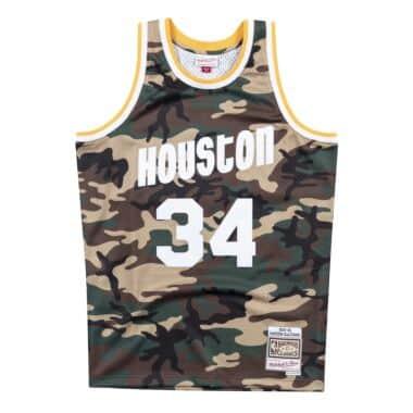 9cbf55110554 Woodland Camo Swingman Jersey Houston Rockets 1993-94 Hakeem Olajuwon