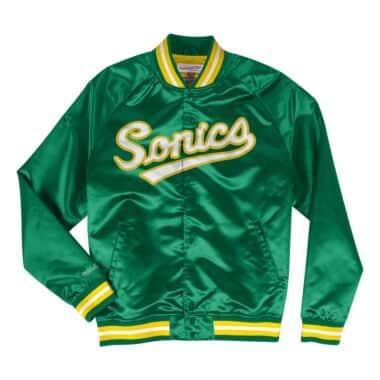 Lightweight Satin Jacket Seattle SuperSonics 97bdd165db